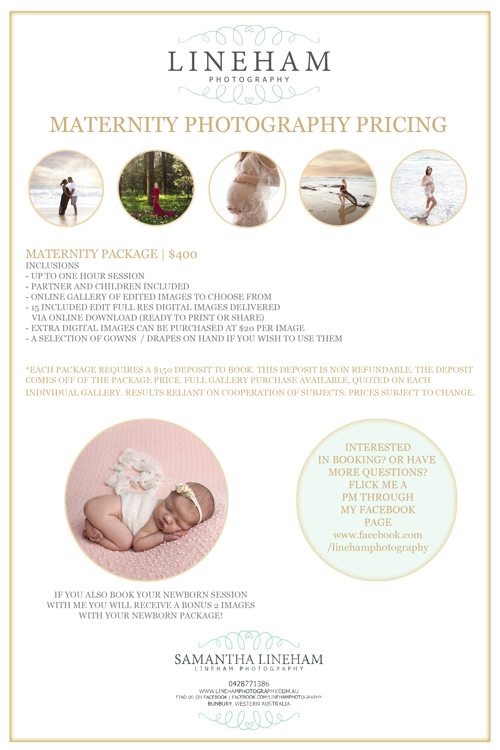 Maternity pricing 2019 lineham photography built using wordpress and the mesmerize theme